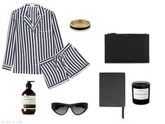 Trini blog | Mother's day gift guide: Equipment pajama set, Prada sunglasses, Aesop body balm, Byredo candle, Givenchy pouch