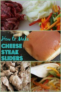 Cheese Steak Sliders #recipe #superbowl #food
