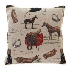 Equestrian throw pillow - 21 Awesome Throw Pillows & Covers for the Horse Lover  #scequine