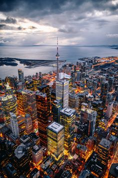 Above the City of Toronto