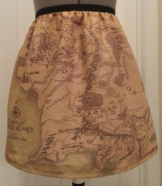Lord of the Rings inspired skirt - map of Middle Earth, just what an adventurer needs!