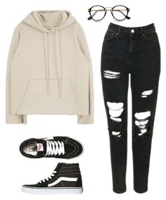 """Untitled #59"" by xliesw ❤ liked on Polyvore featuring Topshop and Vans"