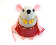I CAN'T GET OVER HOW ADORABLE THIS IS!!!!    SALE  Exotic Belly Dancer Ornament felt rat by TheHouseOfMouse, £19.00