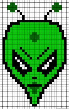 Alien perler bead pattern