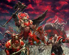 KHORNE WARRIORS #ageofsigmar #warhammer #art #fantasy #aos #gamesworkshop #Chaos