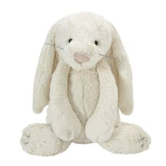 If you're looking for a special soft toy, this gorgeous large soft cream bunny rabbit will surely delight any child.