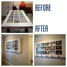 Glass door/photo frame/coat hanger