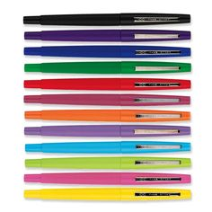 Paper Mate Flair Felt Tip Pen, I miss these....my first one was red. I filled up an entire spiral notebook with scribbles of my own 'cursive'.