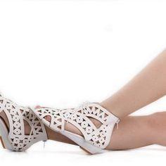 Fashion Cut Out Lace Up Women Sandals