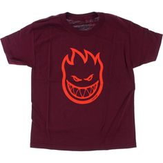 Spitfire Wheels Bighead Burgandy Red Youth t-shirt - new at Warehouse Skateboards! #WHSkate