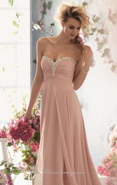 OBSESSED. <3 Pink Wedding Dress.