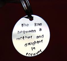 Gift for Mom from daughter on wedding day, Birthday gift for Mom, Mothers Day gift, To Mom from daughter keychain. $24.00, via Etsy.