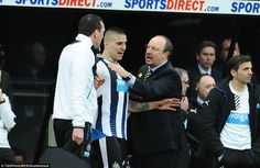 Aleksandar Mitrovic  had to be persuaded not to re-enter the pitch by Rafa Benitez and his staff after sustaining a head injury.