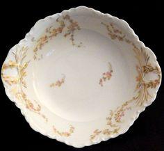 "Norma by Haviland 8"" Round Vegetable Bowl, Schleiger 233-1, White Porcelain Rare #HavilandCo"