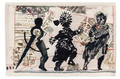 WILLIAM KENTRIDGE  3 Figures, 2010  tapestry 281x430 cm Edition of 6