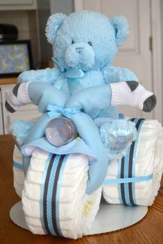 Tricycle Diaper Cake – Boy Baby Shower Centerpiece – New Daddy Gift – Motorcycle Dad – Harley Davidson Father – New Baby Gift – Babyshowerideas Regalo Baby Shower, Idee Baby Shower, Fiesta Baby Shower, Baby Shower Invitaciones, Baby Shower Cakes For Boys, Shower Bebe, Baby Shower Diapers, Baby Shower Themes, Baby Boy Shower