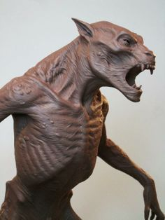 Concept Modeling For Easy Clay Sculptures: – Picture : – Description TunnelLycanmaquettebustside -Read More – Creature 3d, Creature Concept Art, Creature Design, Alien Creatures, Fantasy Creatures, Mythical Creatures, Easy Clay Sculptures, Sculpture Clay, Statues
