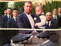 My sons wedding boys with Jordan sneakers at the reception