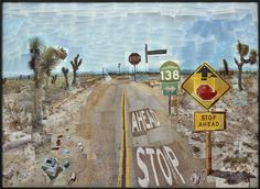 David Hockney Pearblossom Highway, 11-18 April 1986 #1 Photocollage 119.4 x 163.8 cm The J. Paul Getty Museum, Los Angeles. Gift of David Hockney © David Hockney Photo credit: Prudence Cuming Associates