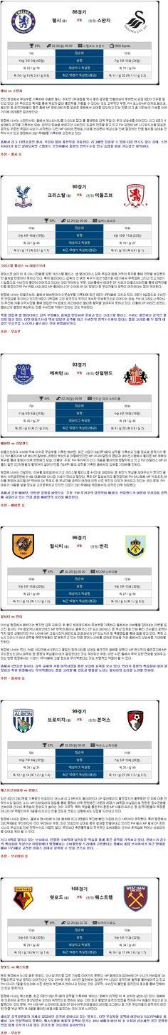 [농구★토정비결★  26일 <EPL>종합>