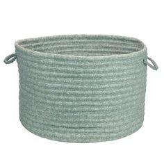 Lark Manor Nathanael Solid Fabric Storage Basket Size: H x W x D, Color: Seafoam Under Shelf Basket, Basket Shelves, Fabric Storage Baskets, Fabric Basket, Laundry Hamper, Storage Containers, Pantry Storage, Storage Boxes, Sea Foam