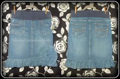 Motherhood Maternity Jean skirt size S Of the by CustomJeanSkirts, $48.00