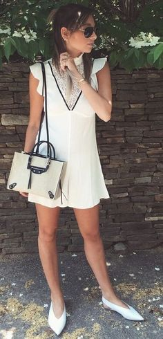 White Lace Detail Romper                                                                             Source