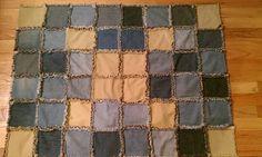 Achille's Dog Quilt (rag quilt).