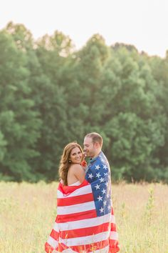 American flag July 4th Engagement Shoot Jessica Cooper Photography