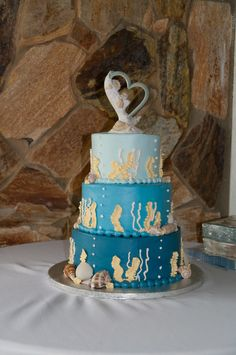 Our Beach Wedding Cake from Publix