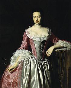 A portrait of Eunice Dennie Burr by John Singleton Copley, circa 18th Century Costume, 18th Century Fashion, Bustier, Historical Costume, Fashion Art, Rococo Fashion, Vintage Fashion, Photo Editor, Portraits