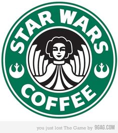 """Star Wars coffee logo. """"This is not the Macchiato you are looking for."""""""