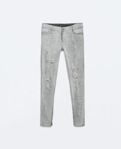 ZARA - NEW THIS WEEK - MEDIUM RISE RIPPED JEANS