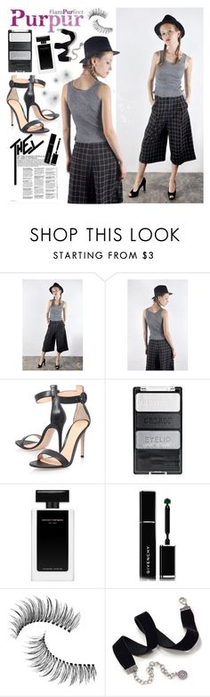 """""""Purpur 6"""" by gaby-mil ❤ liked on Polyvore featuring Gianvito Rossi, Givenchy, Trish McEvoy, Sweet Romance, culottes and purpur"""