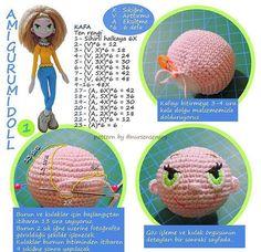 Mesmerizing Crochet an Amigurumi Rabbit Ideas. Lovely Crochet an Amigurumi Rabbit Ideas. Amigurumi Tutorial, Crochet Amigurumi, Crochet Doll Pattern, Amigurumi Patterns, Amigurumi Doll, Diy Crochet, Crochet Dolls, Crochet Patterns, Filet Crochet