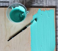 Make your own chalkboard paint in any color! This may be the greatest discovery ever.