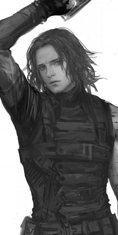 Bucky Barnes. They really must quit making such ridiculously attractive Bucky art. (please don't stop)