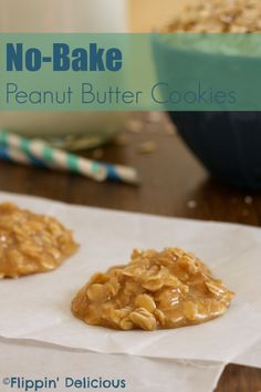 Sweet, chewy, and peanut buttery, no-bake cookies are an easy treat and they are #glutenfree too.