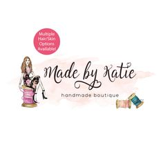 Sewing Premade Logo Design - Customized with Your Business Name!