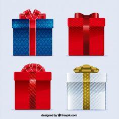 cajas de regalo Vector Gratis