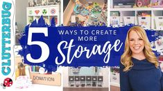 5 Ways to Create More Storage in your Home Clutter Organization, Home Organisation, Organizing Tips, Organising, Diy Home Improvement, Easy Projects, Getting Organized, 5 Ways, Declutter