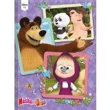 Caderno Brochura Capa Dura Top Universitário Masha e o Urso - 96 Folhas