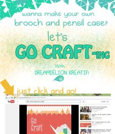 Let's create your own brooch and pencil case with @Dreamdelion just click http://www.youtube.com/watch?v=GtxriY8D2PE on YOUTUBE !
