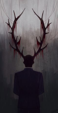 "neruteru: "" The season finale left a large void in my heart… SPOILERS (I THINK): im like fuck you hannibal, fuck you fbi blond oldie, fuck you unloaded pistol, fuck everything, omg bedannibal (i. Hannibal Series, Nbc Hannibal, Hannibal Lecter, Hannibal Wendigo, Arte Horror, Horror Art, Dark Fantasy Art, Dark Art, Monsters"