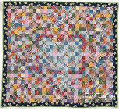 Floral Scrap Squares Quilt - PageQuilts.com - Feel the Warmth Under A Quilt
