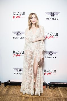 Lena Perminova attend the Harper's Bazaar 20 Years in Russia dinner in Volkhonka Mansion on March 24 2016 in Moscow Russia