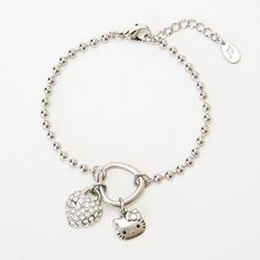 Hello Kitty Heart & bracelet Sanrio online shop - official mail order site Heart Bracelet, Bracelets, Japanese Shop, Hello Kitty Jewelry, Shopping Service, Sanrio Hello Kitty, Health, Fitness, Silver