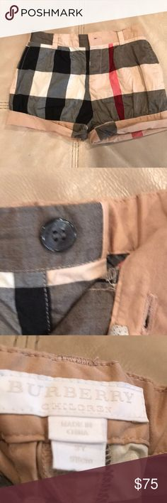 Burberry toddler girl shorts. In excellent condition!! Worn a few times. Just need a good ironing! Burberry Bottoms Shorts