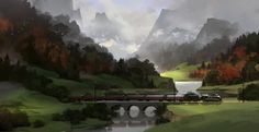 Train, Andrey Maximov on ArtStation at http://www.artstation.com/artwork/train-8471a692-9648-4ce2-84a9-f48867e24e37