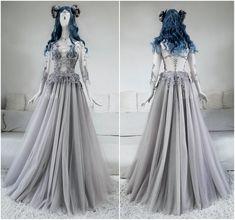 Sparkling Steam Gown by Askasu Cute Dresses, Beautiful Dresses, Prom Dresses, Wedding Dresses, Desire Clothing, Fantasy Gowns, Fairytale Dress, Wedding Lingerie, Gothic Fashion
